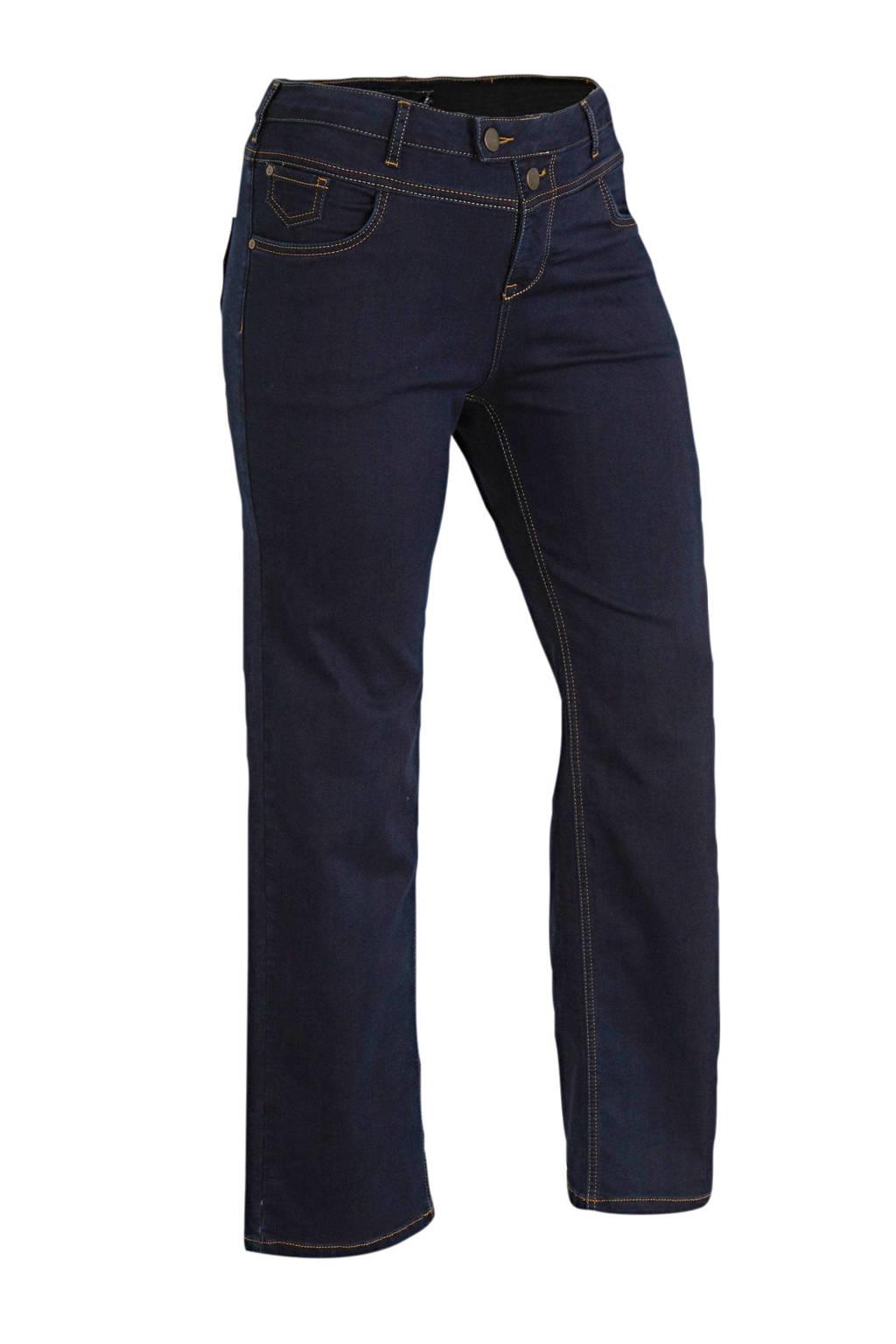 Zizzi high waist straight fit jeans lengtemaat 34, Dark denim