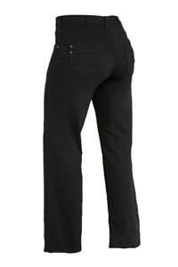 Zizzi high waist straight fit jeans zwart lengtemaat 30, Zwart