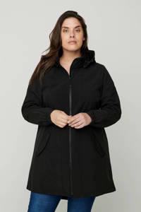 Zizzi softshell jas zwart, Zwart