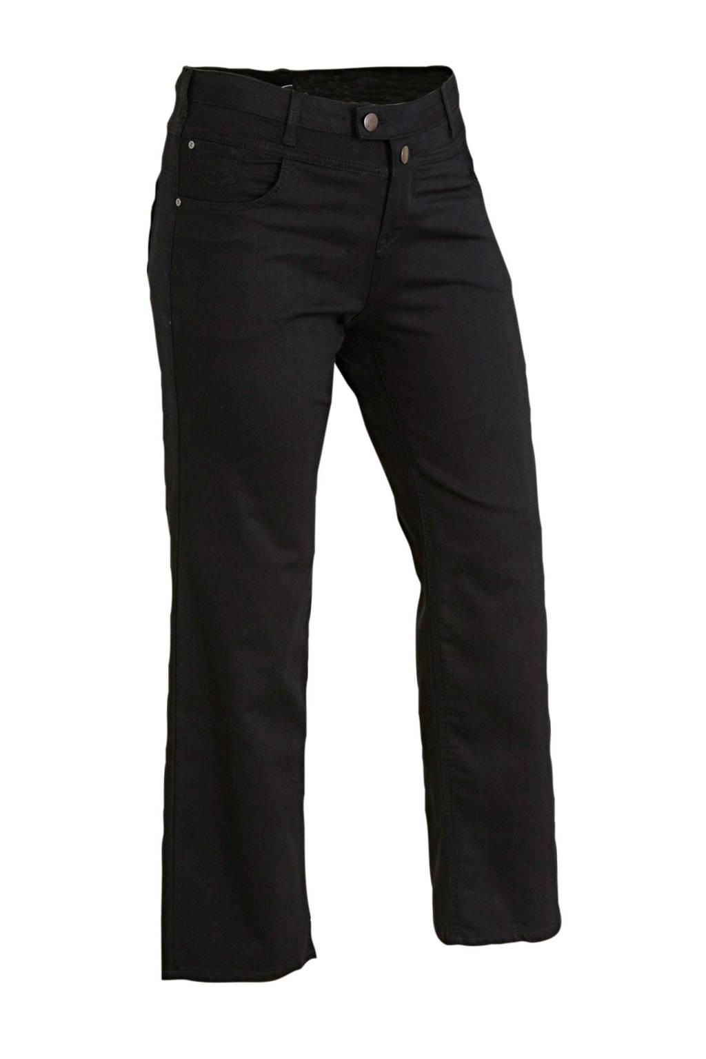 Zizzi high waist straight fit jeans zwart lengtemaat 32, Zwart