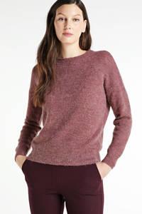 MSCH Copenhagen gemêleerde trui Femme Alpaca met wol roze, Roze