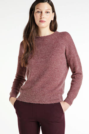 gemêleerde trui Femme Alpaca met wol roze