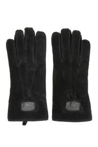 Warmbat Australia suède handschoenen zwart, Zwart
