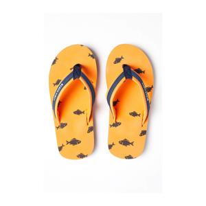 teenslippers oranje/blauw