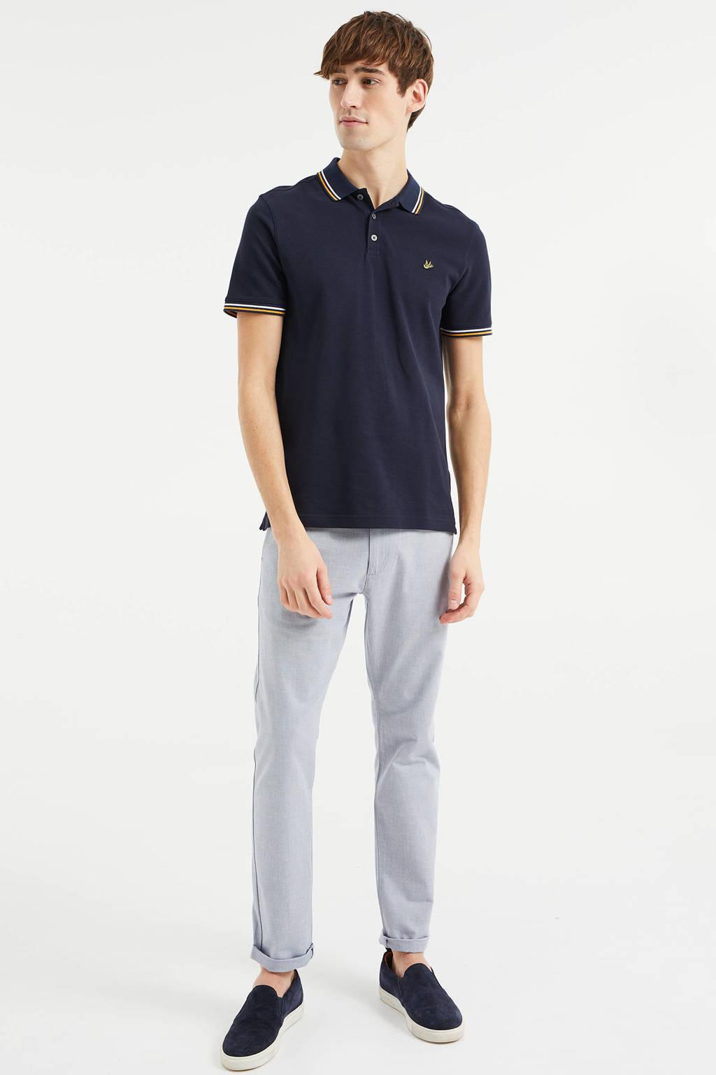 WE Fashion regular fit polo van biologisch katoen heavy blue, Heavy Blue