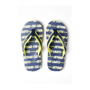 teenslippers blauw/geel
