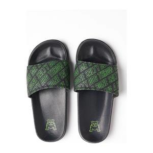 badslippers zwart/groen
