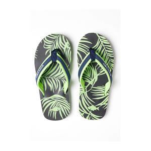 teenslippers groen/blauw