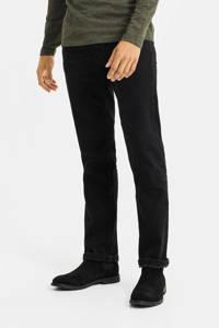 WE Fashion Blue Ridge straight fit jeans Rex Ronald zwart, Zwart