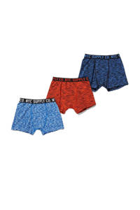 C&A Here & There   boxershort - set van 3 rood/blauw/donkerblauw, Rood/blauw/donkerblauw