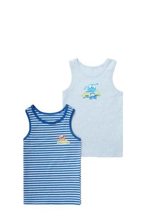 hemd - set van 2 blauw/wit