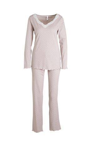 pyjama met all over print roze