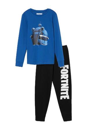 pyjama Fortnite blauw/zwart/wit