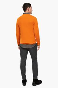 s.Oliver BLACK LABEL trui met wol oranje, Oranje