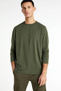 BOSS Casual gemêleerde sweater olijfgroen, Olijfgroen