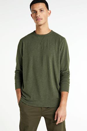 gemêleerde sweater olijfgroen