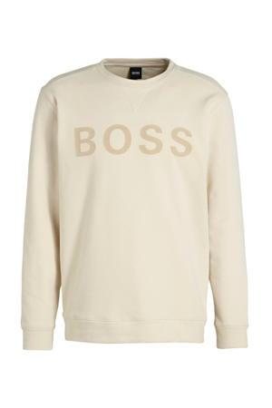sweater met logo ecru