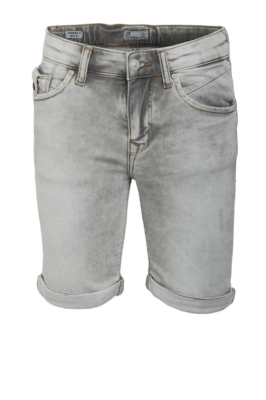 LTB slim fit jeans bermuda Anders X grey ice wash, Grey Ice Wash