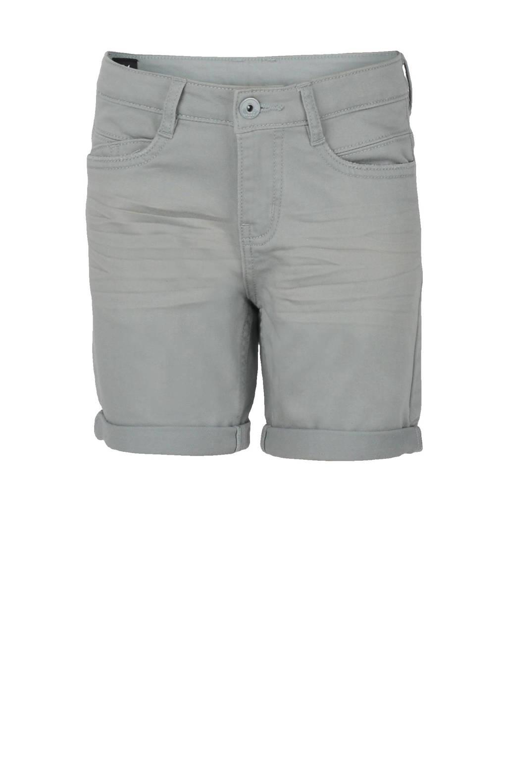 Shoeby Jill & Mitch slim fit jeans bermuda Pablo groen, Groen