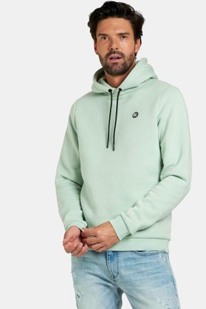 hoodie Keano met logo lichtgroen