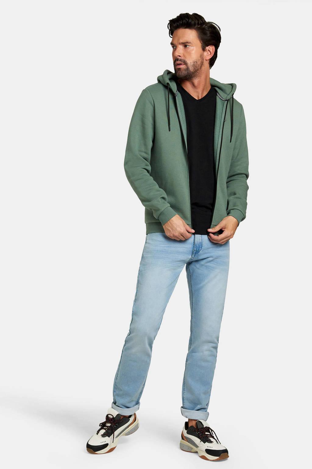 Refill by Shoeby vest Keano met logo groen, Groen