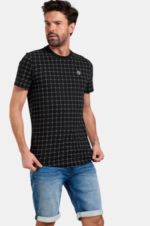 geruit T-shirt Tobi zwart