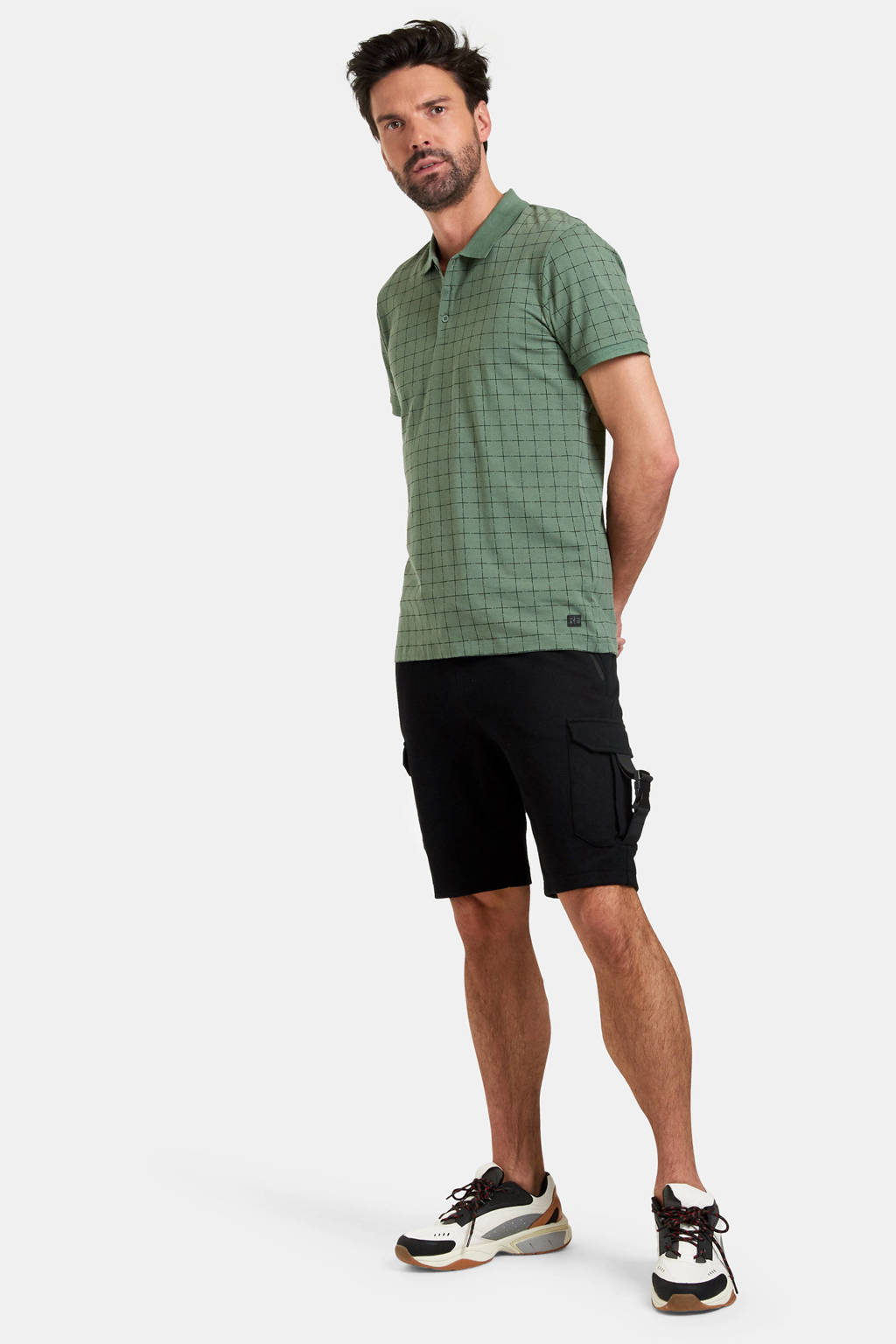 Refill by Shoeby slim fit sweatshort Hein zwart, Zwart