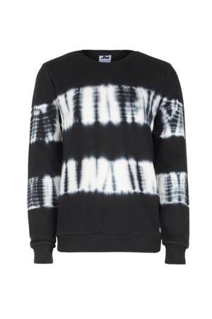 tie-dye sweater Bob zwart/wit