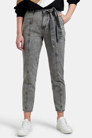 high waist tapered fit jeans Saar grijs
