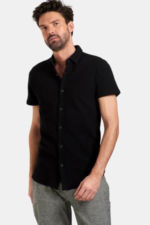 regular fit overhemd Dason met textuur zwart