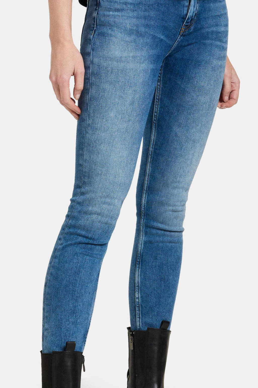 Eksept by Shoeby high waist skinny jeans Ametist Classic L28 mediumstone, MEDIUMSTONE