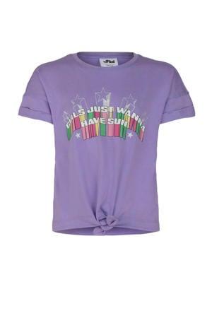 T-shirt Krista met printopdruk lila
