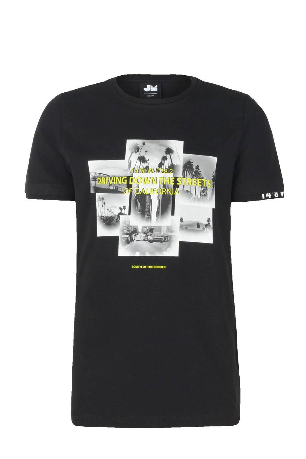 Jill & Mitch by Shoeby T-shirt Bako met printopdruk zwart, Zwart