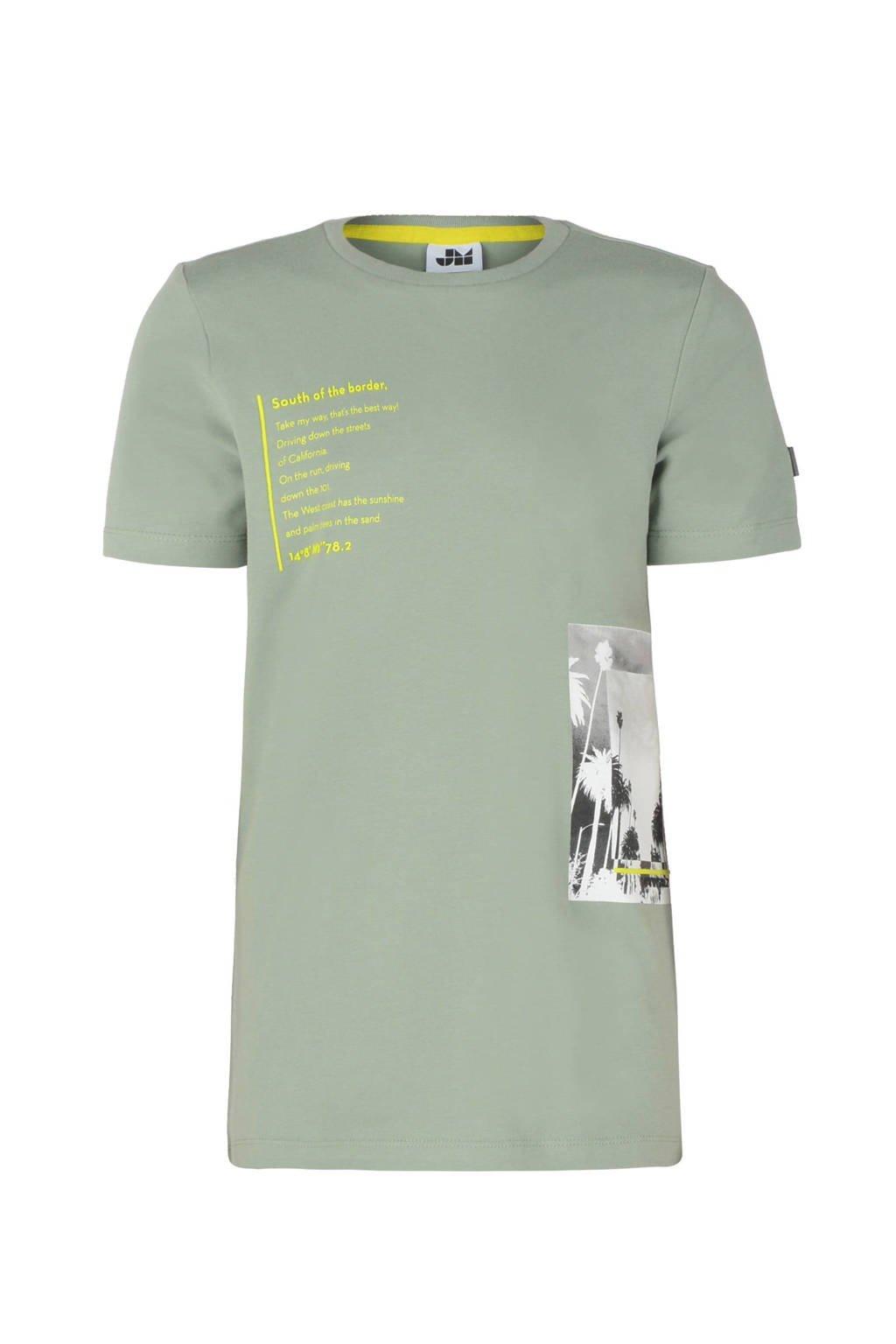 Jill & Mitch by Shoeby T-shirt Bert met printopdruk lichtgroen, Lichtgroen