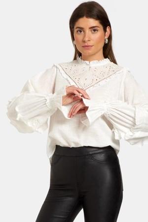 blouse met kant wit