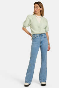 Eksept by Shoeby high waist flared jeans L33 Susan bleached, Bleached