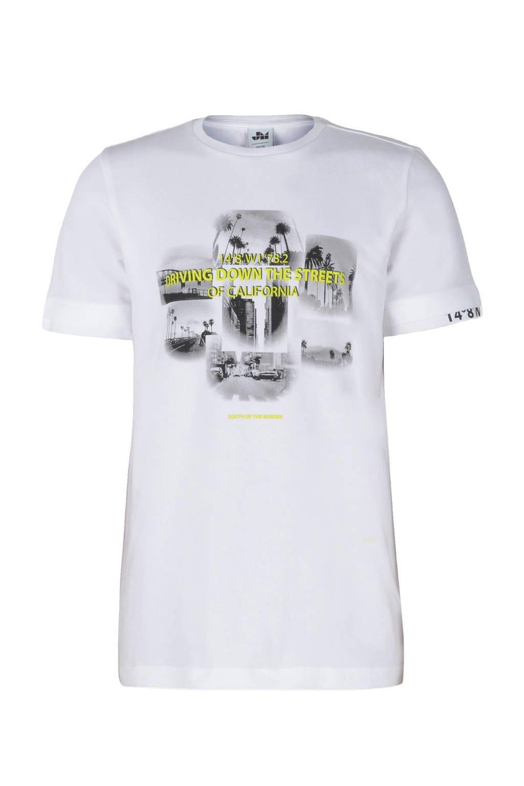 Jill & Mitch by Shoeby T-shirt Bako met printopdruk wit, Wit