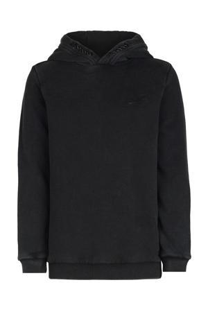 hoodie Kai met printopdruk zwart/geel