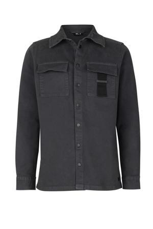 denim overhemd Kris antraciet