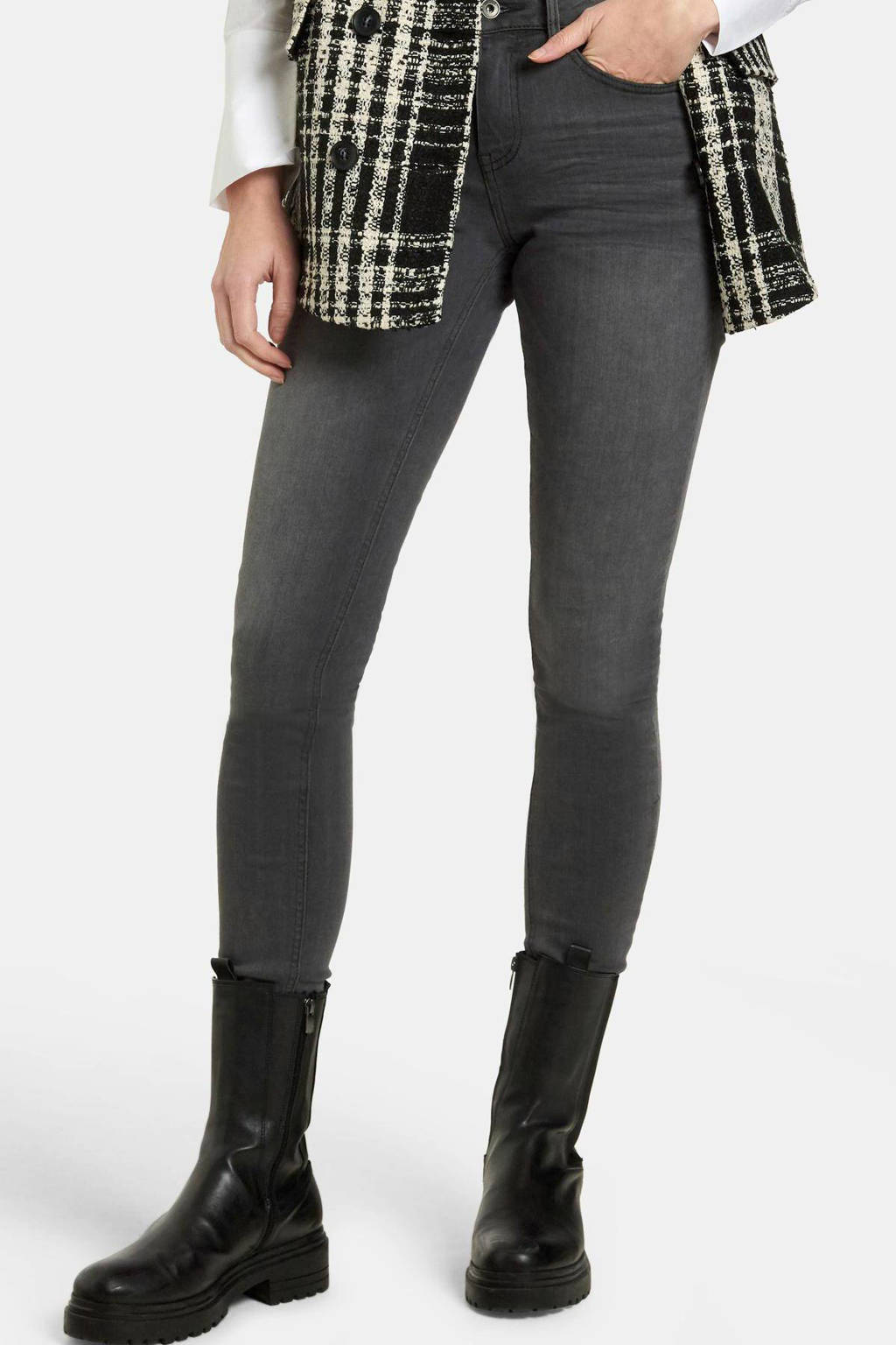 Eksept by Shoeby high waist skinny jeans Liza Edith lengtemaat 32 grijs, Grijs