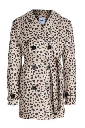 coat tussen Kania met panterprint beige/zwart