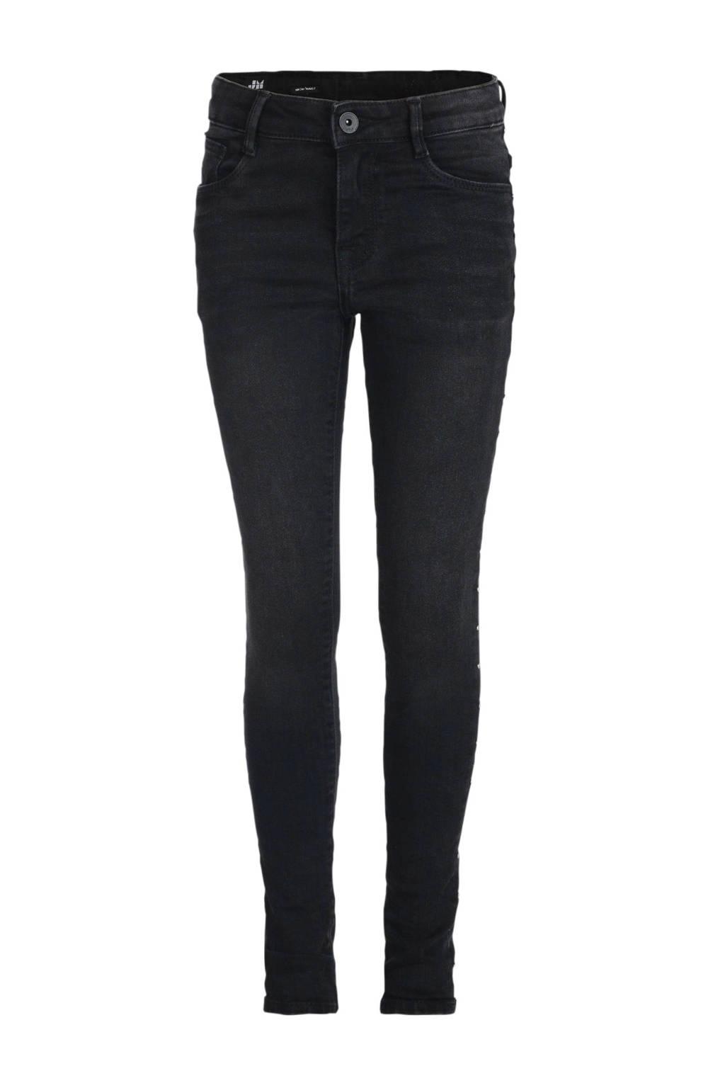 Shoeby Jill & Mitch high waist skinny jeans Kimberley zwart, Zwart