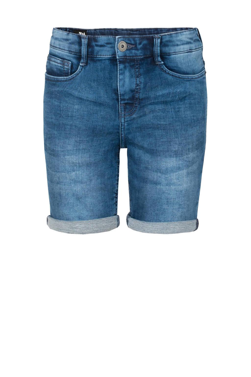 Shoeby Jill & Mitch slim fit jeans bermuda Otis blauw, Blauw