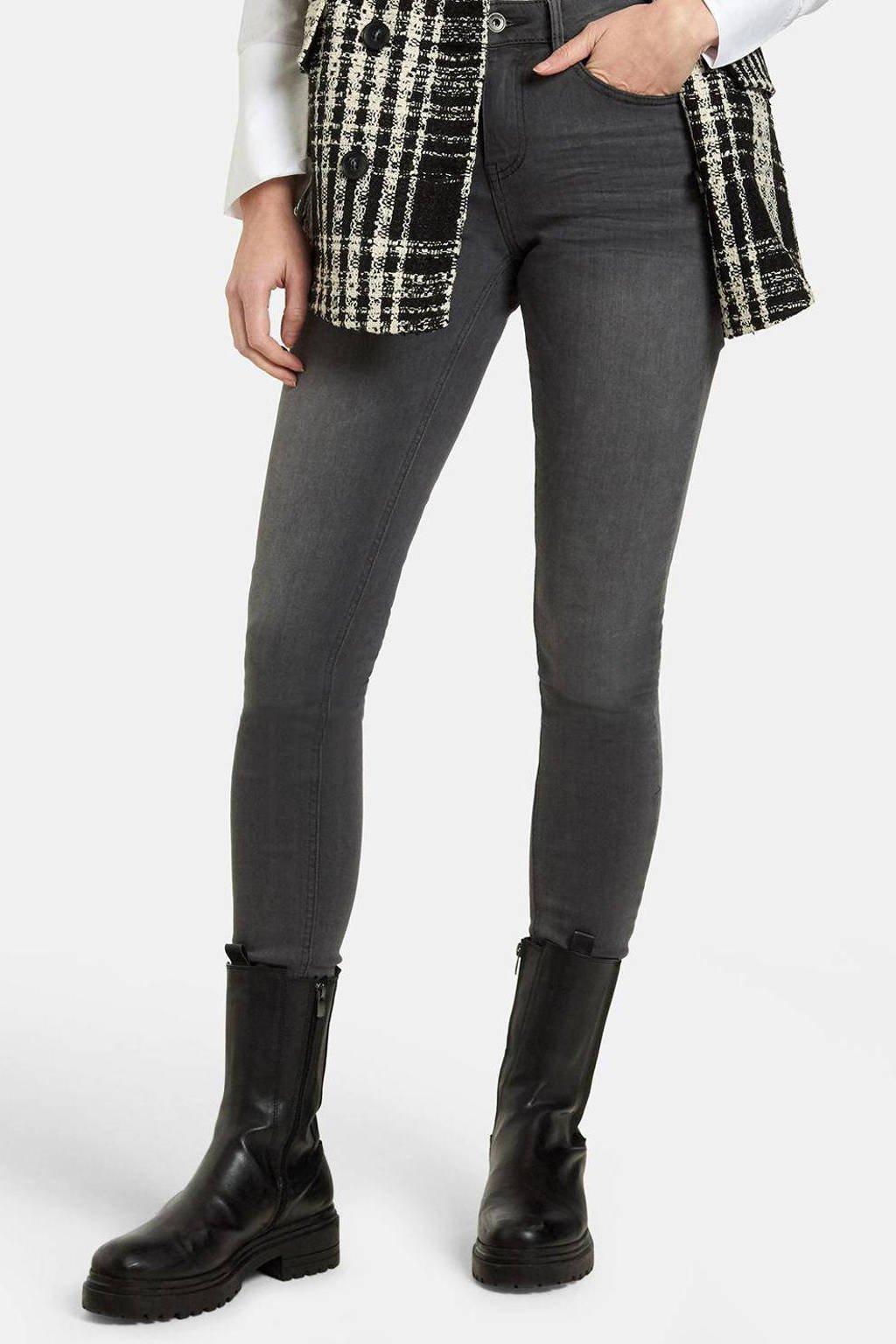 Eksept by Shoeby high waist skinny jeans Liza Edith L34 grijs, Grijs
