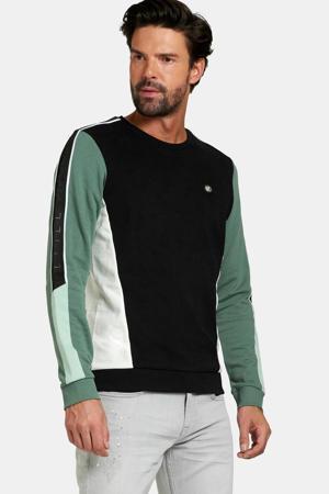 sweater Kaz zwart/groen