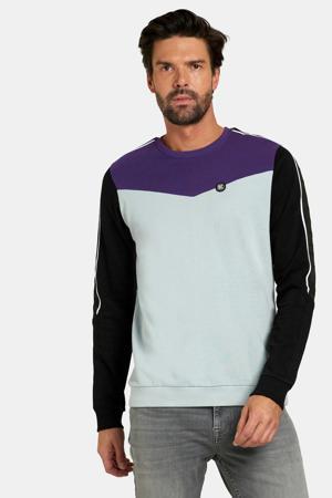 sweater Kaz lichtblauw/paars