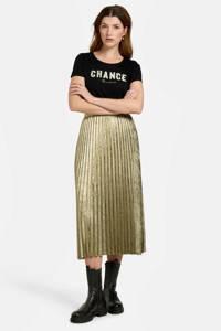 Eksept by Shoeby T-shirt Chance met tekst zwart, Zwart