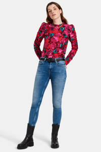 Eksept by Shoeby blouse Rosie met all over print en ruches roze, Roze