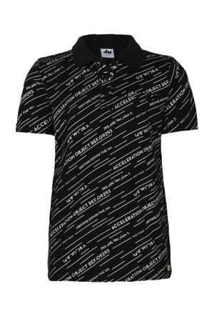 polo Blaze met all over print zwart/wit