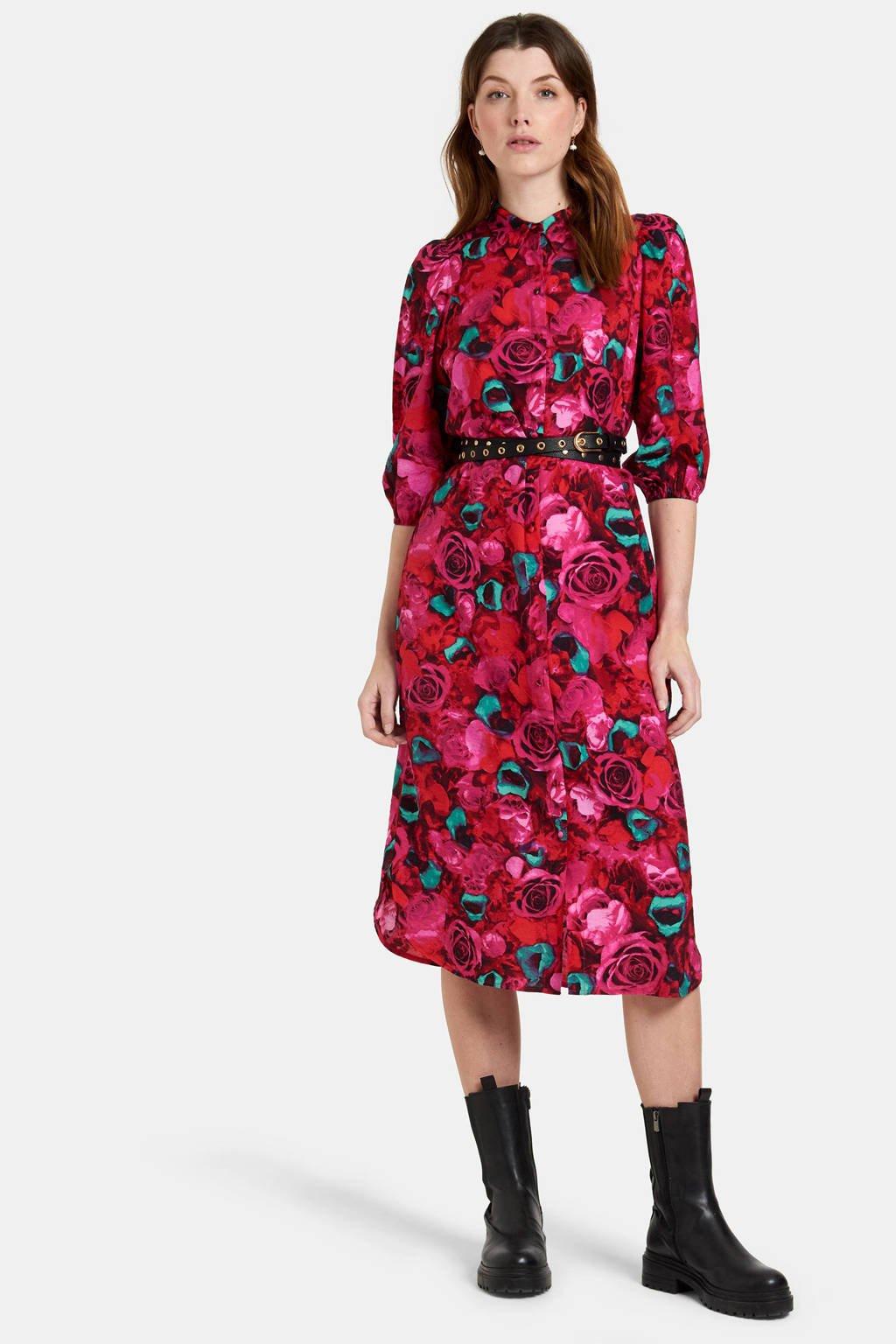 Eksept by Shoeby jurk Rosie met all over print roze, Roze
